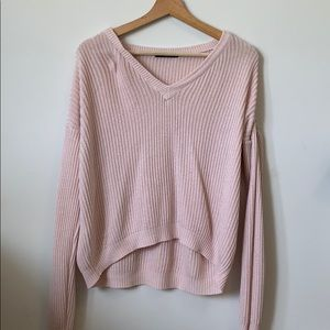 Brandy Melville soft pink pullover sweater.